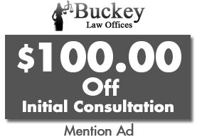$100.00 Off Initial Consultation, Mention Ad